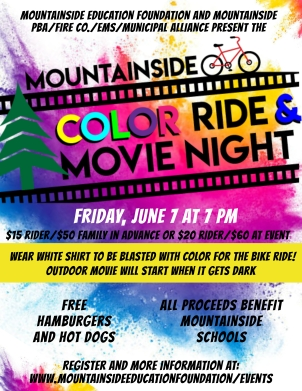 2019 MEF Color Ride and Movie Night flyer